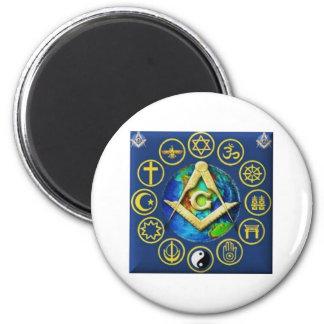 Freemasonry All Religions Magnet