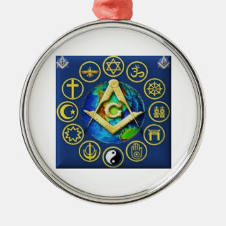 Freemasonry All Religions Metal Ornament