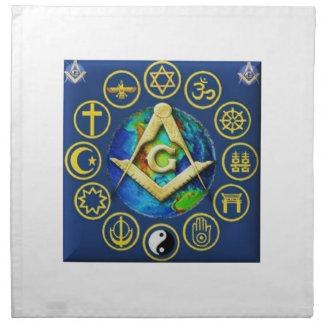Freemasonry All Religions Napkin