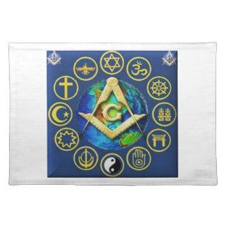 Freemasonry All Religions Placemat