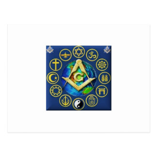 Freemasonry All Religions Postcard