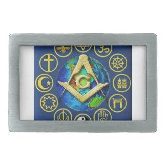 Freemasonry All Religions Rectangular Belt Buckle