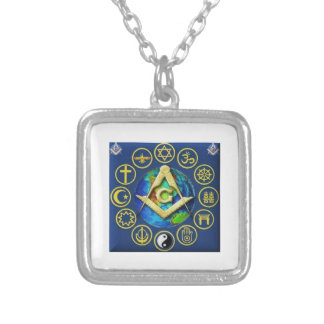 Freemasonry All Religions Silver Plated Necklace