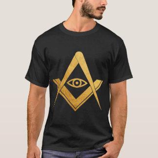 Freemasonry All seeing eye golden symbol t-shirt