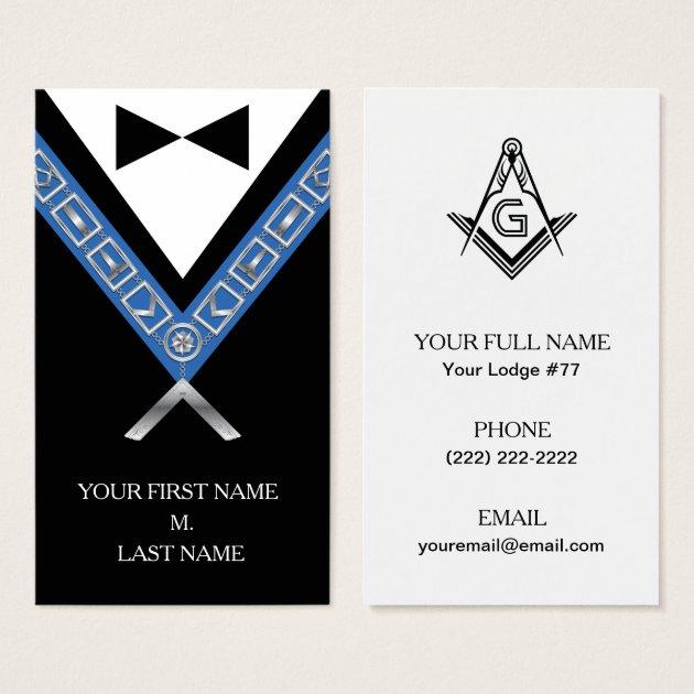 Freemasonry Business Cards Custom Masonic Card