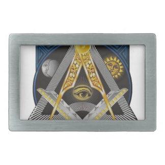 Freemasonry Emblem Belt Buckle
