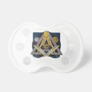 Freemasonry Emblem Pacifier
