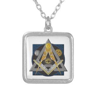 Freemasonry Emblem Silver Plated Necklace