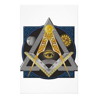 Freemasonry Emblem Stationery