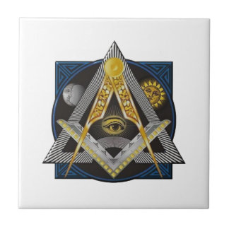 Freemasonry Emblem Tile
