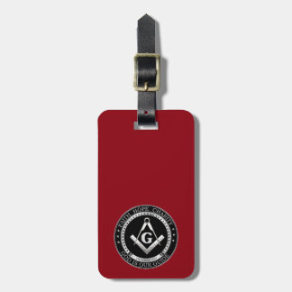 Freemasonry seal luggage tag