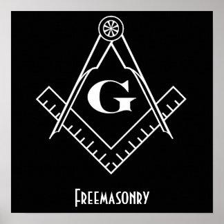 Freemasonry Square and Compass Print