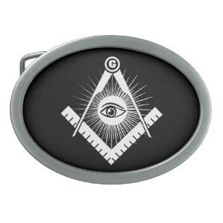 Freemasonry symbol belt buckles