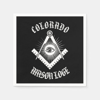Freemasonry symbol disposable napkins