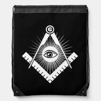 Freemasonry symbol drawstring bag