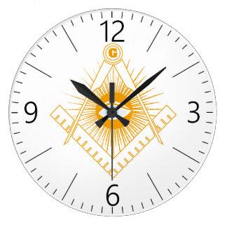 Freemasonry symbol large clock