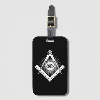 Freemasonry symbol luggage tag