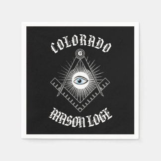 Freemasonry symbol paper napkin