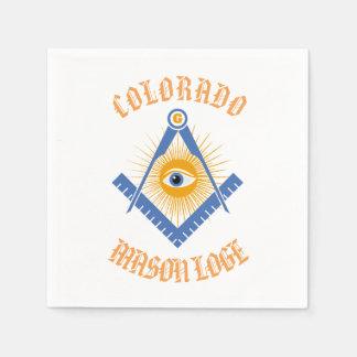 Freemasonry symbol paper napkins