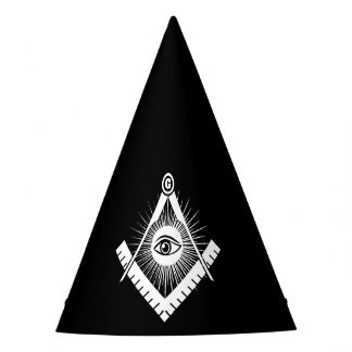 Freemasonry symbol party hat