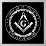 Freemasonry symbol print