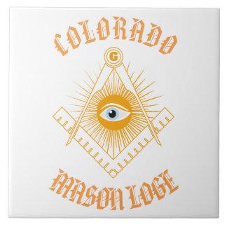 Freemasonry symbol tile
