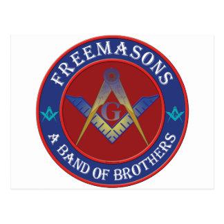 Freemasons Band Of Brothers Postcard