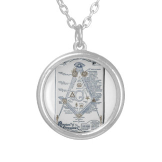 freemasonstruct silver plated necklace
