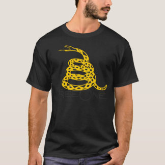 "FreeOne Black Gadsden ""Don't Tread on Me"" T-shirt"