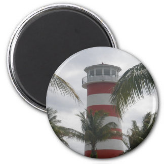 Freeport Bahamas lighthouse 2 Inch Round Magnet