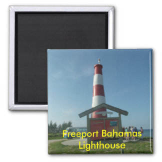 Freeport Bahamas Lighthouse Square Magnet