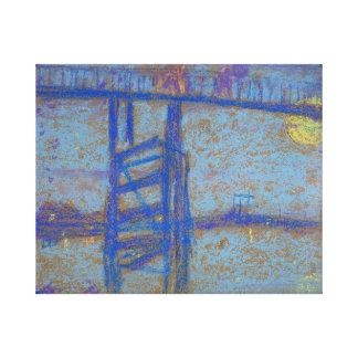 Freer nocturne battersea bridge canvas print