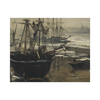 freer the thames in ice canvas print