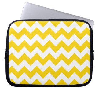 Freesia Yellow Chevron Zigzag Laptop Sleeve