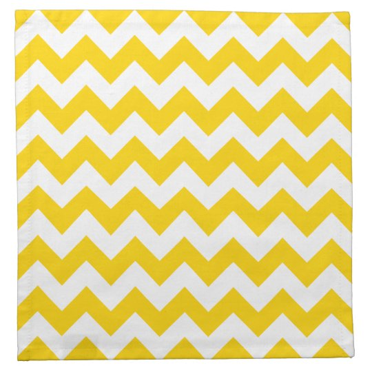 Freesia Yellow Chevron Zigzag Pattern Cloth Napkin