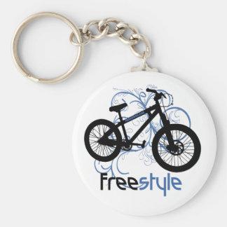 Freestyle Basic Round Button Keychain