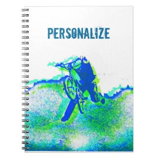 Freestyle BMX Trick Pop Art Spiral Notebooks