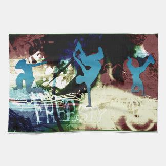 Freestyle Break Dance Graffiti Hand Towel