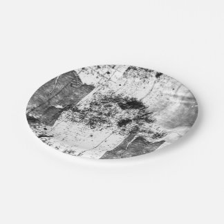 Freestyle In Black And White Paper Plate 7 Inch Paper Plate