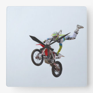 Freestyle Motocross Square Wall Clock