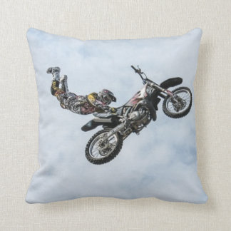 Freestyle Motocross Stunt Throw Pillow
