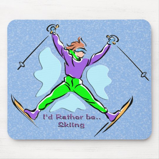 Freestyle Skier Mouse Pad