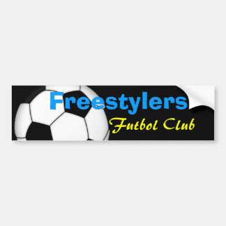 Freestylers futbol club bumper sticker