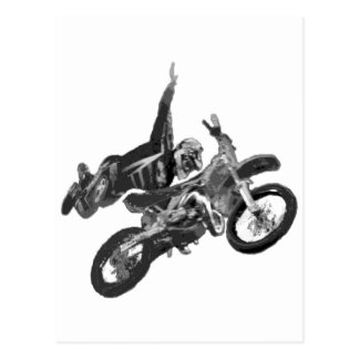 freestyling with dirt bike post cards