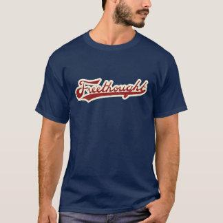 Freethought Baseball Logo Navy Blue T-Shirt