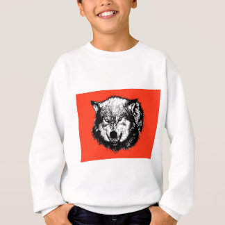FreeVector-Angry-Wolf-Head-Graphics Sweatshirt