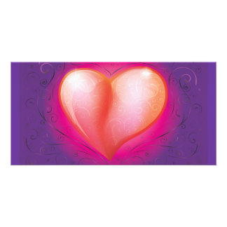 FreeVector-Beautiful-Heart-Vector.ai Customized Photo Card