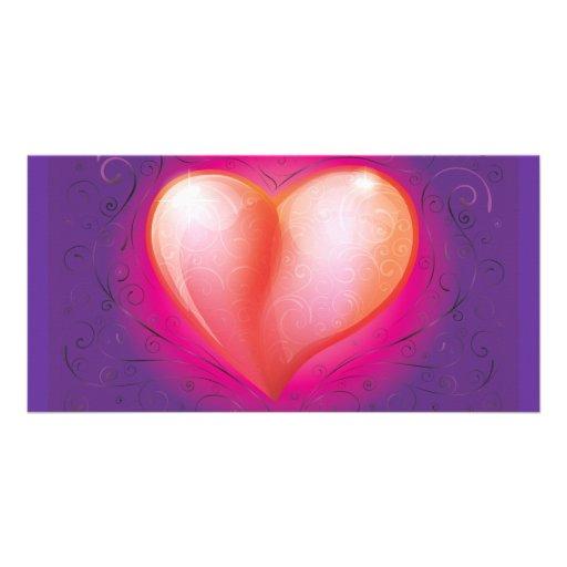 FreeVector-Beautiful-Heart-Vector.ai Customized Photo Card