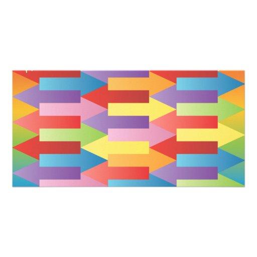 FreeVector-Colorful-Arrows-Vector.ai Customized Photo Card