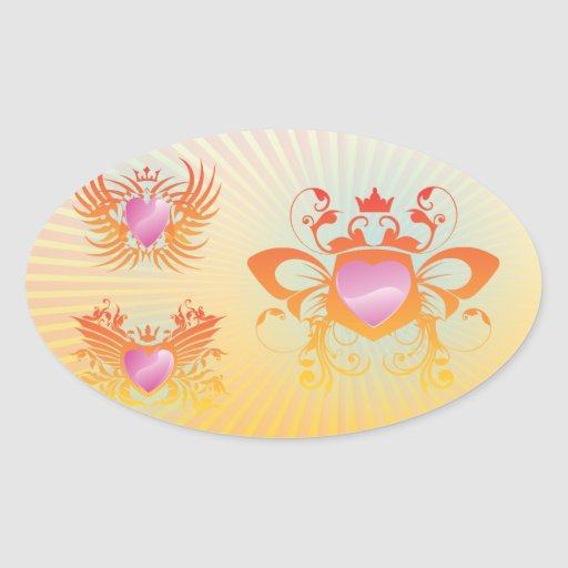 FreeVector-Cool-Shields.ai Oval Sticker